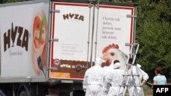Австриядағы мигранттар мәйіті табылған жүк көлігі. 27 тамыз 2015 жыл.