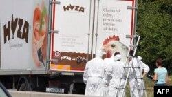Фургон, у якому знайшли загиблими 71 мігранта, 27 серпня 2015 року