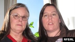 Nora Shourd (left) and Cindy Hickey, mothers of two of the detained Americans in Iran