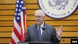 U.S. Secretary of State Rex Tillerson on a recent trip to Moscow