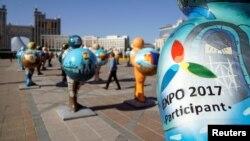 EXPO-2017 көрмесіне арналған мүсіндер.