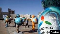 Скульптуры в Астане, установленные к международной выставке EXPO-2017.
