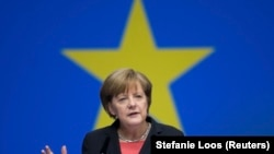 Германскиот канцелар Ангела Меркел, Берлин 20.11.2106.