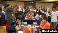 Матч Армения-Венгрия на командном чемпионате мира по шахматам в Китае, 24 июля, 2011 г.