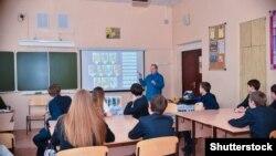 Урок в старших классах одной из московских школ