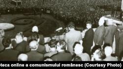 Adunarea populară în legătură cu poziţia P.C.R. faţă de evenimentele din Cehoslovacia. (21 august 1968)