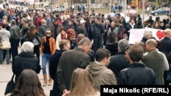 Акция протеста в Тузле. Босния, 10 февраля 2014 года.