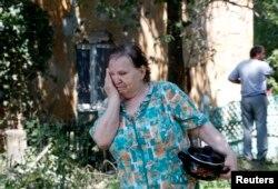 La Doneţk, după lupte în care au fost ucişi mai mulţi civili, 3 august 2014