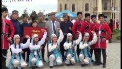 Folklor festivalına İrandan da qızlar gəlmişdi...