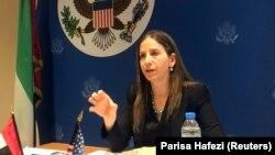 سیگال مَندِلکر، معاون وزیر خزانهداری آمریکا، در گفتوگو با خبرنگاران در سفارت آمریکا در ابوظبی