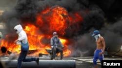 Массовые протесты в Венесуэле. Каракас, август 2017 года