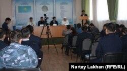Встреча на тему религии и права в учреждении ЛА-155/8 в поселке Заречный Алматинской области. Иллюстративное фото.