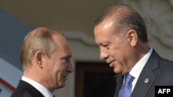 Владимир Путин и Реджеп Эрдоган на открытии саммита G20 в Петербурге, 5 сентября 2013
