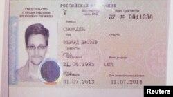 Ռուսաստան - Էդուարդ Սնոուդենին ժամանակավոր ապաստանի տրամադրումը վկայող փաստաթուղթը, Մոսկվա, 1-ը օգոստոսի, 2013թ․
