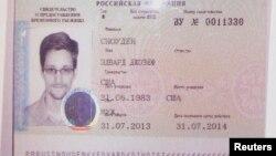 Россия Миграция хизмати Эдвард Сноуденга берган ҳужжат нусхаси.