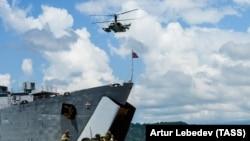რუსეთის შავი ზღვის ფლოტის გემი აფხაზეთში (საარქივო ფოტო)