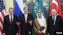 Ռուսաստանի, ԱՄՆ-ի, Սաուդյան Արաբիայի և Թուրքիայի արտգործնախարարները Վիեննայում, 29-ը հոկտեմբերի, 2015թ.
