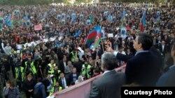 Ադրբեջան - Ընդդիմության հանրահավաքը Բաքվում, 12-ը հոկտեմբերի, 2013թ․