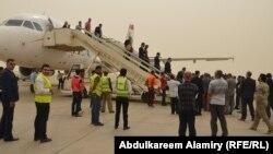 طائرة قادمة من بيروت الى مطار البصرة الدولي