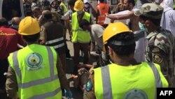 Оказание помощи пострадавшим в Мине