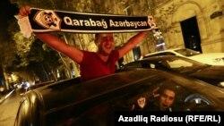 «Qarabağ» azarkeşləri. Foto arxiv