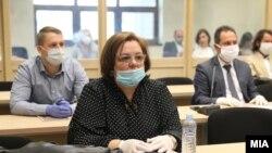 """Катица Јанева во Суд за случајот """"Рекет"""", 8 мај 2020 година"""