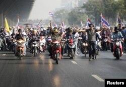 Активисты оппозиции в Бангкоке