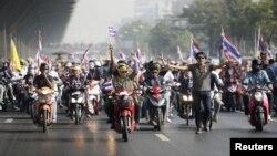 Антыўрадавыя пратэстоўцы ў Бангкоку