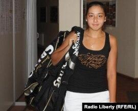 Қазақ теннисшісі Зарина Диас 'Prague Open' турнирінде. Прага, 13 шілде 2010 жыл.