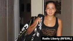 16-летняя казахская теннисистка Зарина Дияс. Прага, 13 июля 2010 года.