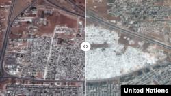 Pamje e ndryshimit urban dramatik të Sirisë para dhe gjatë luftës