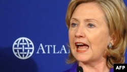 Hillary Clinton tijekom izlaganja o budućnosti transatlantske vojne Alijanse u Washington