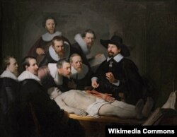 """Репродукция картины """"Урок анатомии доктора Тульпа"""", Рембрандт, 1632 год"""