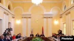 Заседание армяно-российской межпарламентской комиссии по сотрудничеству в Ереване. 11 ноября 2010 г.