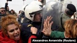 "Столкновение с полицией в лагере ""Диавата"", 5 апреля 2019"