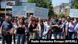 Од неодамнешните протести на новинарите.