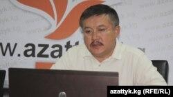Претседателот на парламентот на Киргистан Акматбек Келдибеков.