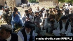 FIILE: A jirga or tribal council in former FATA.