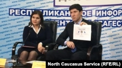 Магомед Дибиров на одной из пресс-конференций в Дагестане
