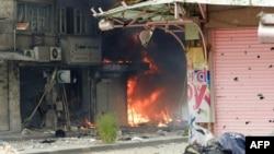 Distrugeri la Homs în urma bombardamentelor trupelor guvernamentale