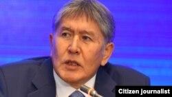 Президент Кыргызстана Алмазбек Атамбаев. Бишкек, 24 декабря 2015 года.