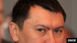 Mazhrenov was accused of helping Rakhat Aliev (pictured) plot a coup