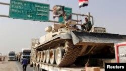 конвој на ирачките сили пред Мосул, 12.10.2016.