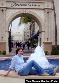 Фота з прыватнага архіву Тані Макаед. Першы дзень працы на Paramount.