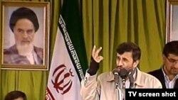 محمود احمدینژاد در مشهد در آغاز دور سوم از سفرهای استانی خود