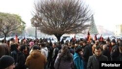 Armenia - People protest against consumer price hikes in Yerevan, 19Dec2014