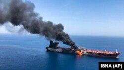 حمله به یک نفتکش در دریای عمان در ۱۳ ژوئن سال جاری