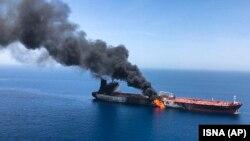 Пожар на танкере в Оманском заливе, 13 июня 2019 года