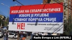 Mbishkrime në veri të Mitrovicës kundër zgjedhjeve, 5 shtator 2013