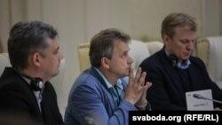 Юрась Губарэвіч, Анатоль Лябедзька, Віталь Рымашэўскі падчас 26-й сэсіі ПА АБСЭ